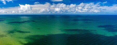 Beautiful view of the sea. Cloudy day. Blue sky. Banco de Imagens - 129015144