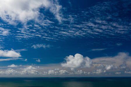 Beautiful view of the sea. Cloudy day. Blue sky. Banco de Imagens - 129015277