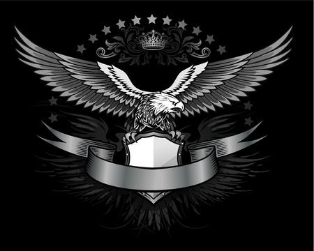 Verspreid gevleugelde adelaar insignia