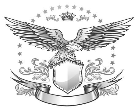 aigle: Fais ailée d'aigle insignes Illustration