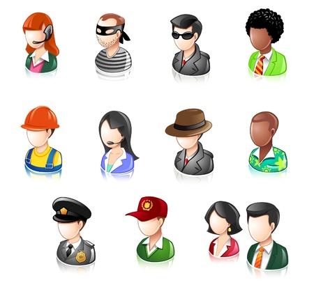 Various Profession People  Illustration