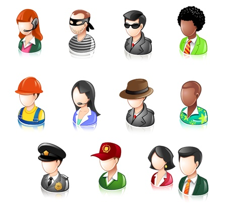 clerk: Various Profession People  Illustration