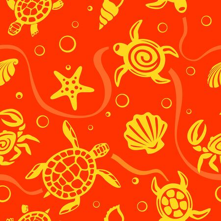 shell pattern: Seamless Turtles Pattern  Illustration