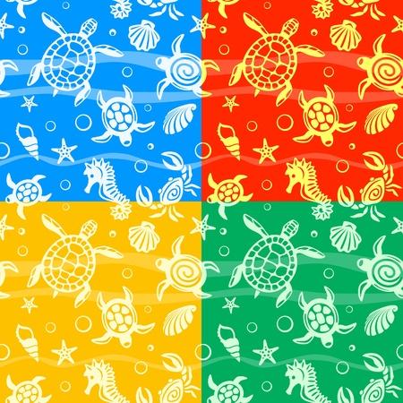 caballo de mar: Tortugas Seamless