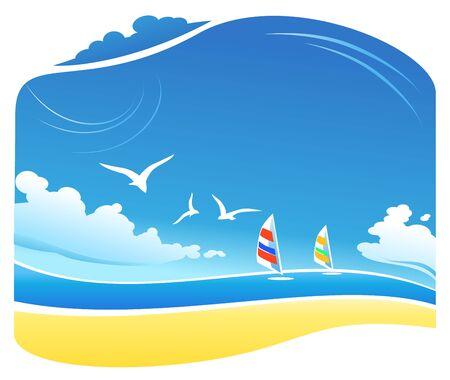 gaviota: En la playa Vectores