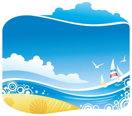 Mar tropical Vectores