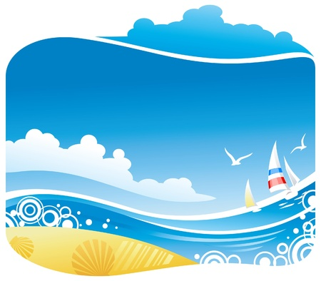 Tropical sea  Stock Vector - 11239001