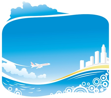 Viajes Tropical Beach Vectores