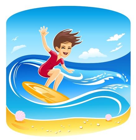 Windsurfer Girl  Stock Vector - 11238956