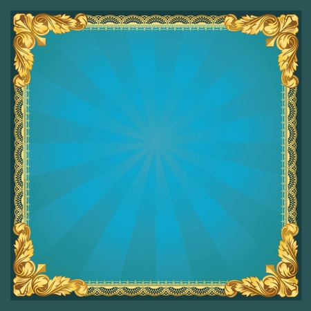 Old-Fasioned Golden Frame  Stock Vector - 11238899