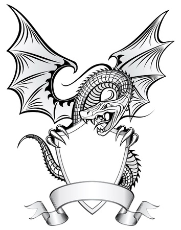 dragon tattoo: Dragon Insignia Illustration