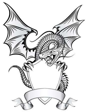tatouage dragon: Dragon Insignia Illustration