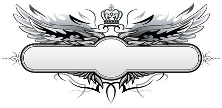 Gothic Vector Insignia  Illustration