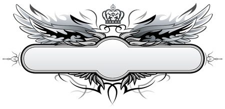 spread eagle: Gothic Vector Insignia  Illustration