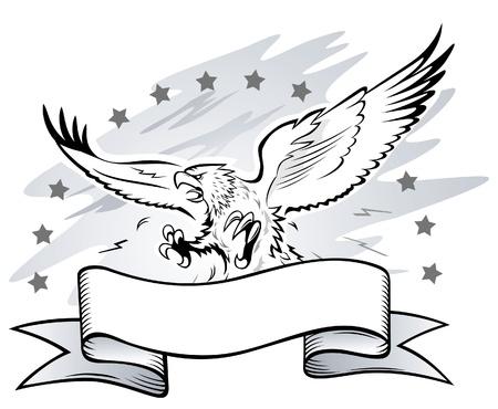aigle: Fais Winged Aigle Insignia Illustration