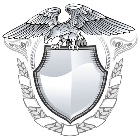 Winged Eagle Insignia  Vector