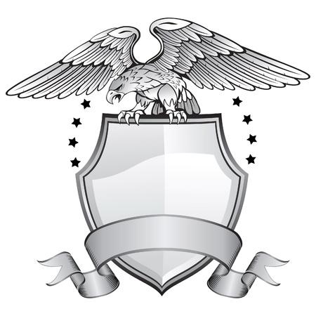eagle: Aigle Bouclier Insignia Illustration