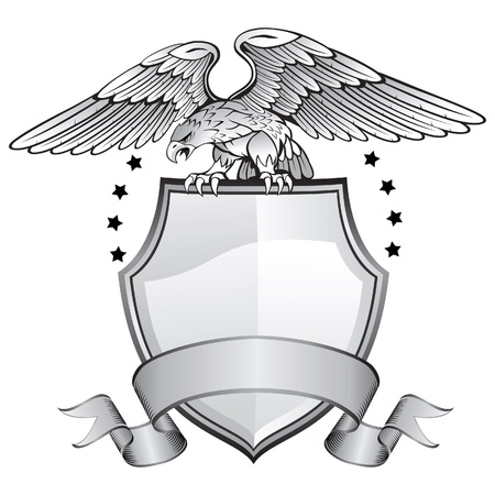 shield emblem: Aquila Shield Insignia Vettoriali
