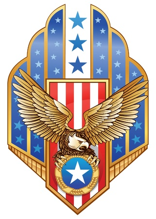 coat of arms shield: American Eagle Insignia