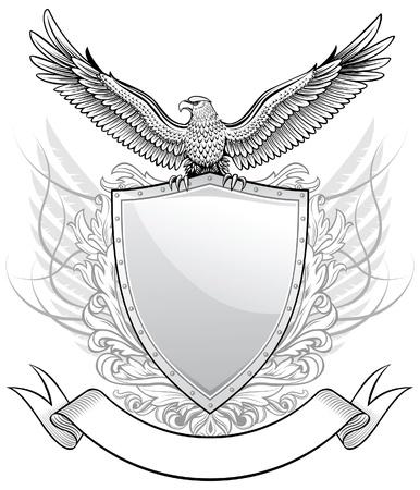 escudo de armas: Escudo con águila emblema