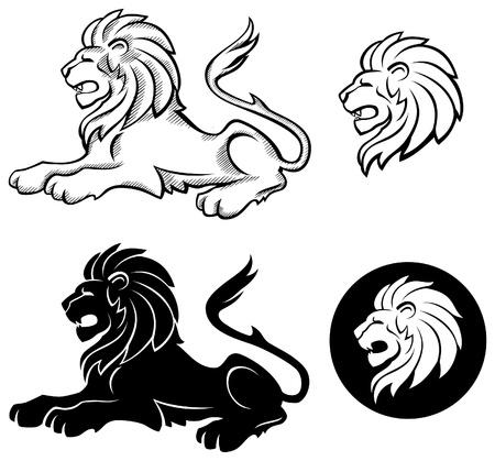 Lion Siluette Insignia  Vector