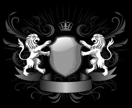 Lions Insignia dark style Vector