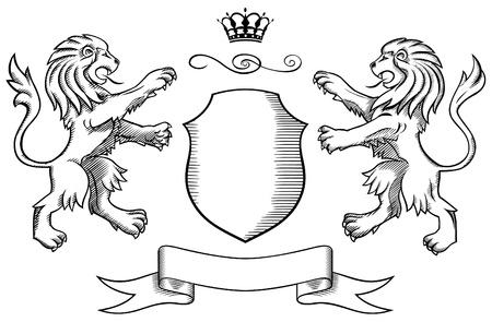 Lions Insignia Vektorové ilustrace