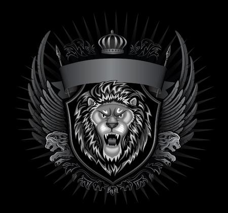 Wild Lion Insignia  Vector