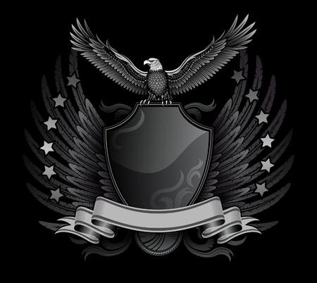 garra: Corre con alas de �guila sobre la Insignia Escudo