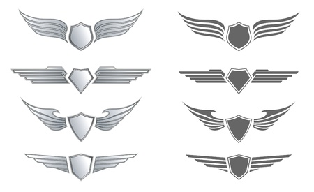 shield with wings: Winged Awards Set