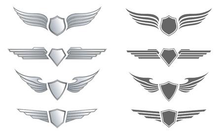 shield wings: Winged Awards Set