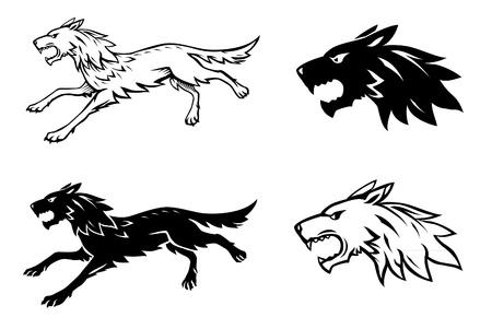 heraldic: Wolf Illustration