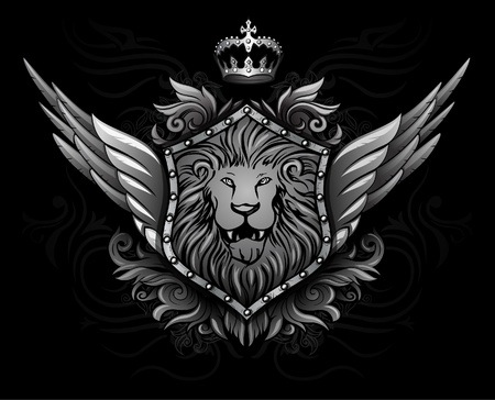 Winged Lion Insignia 2 Vector