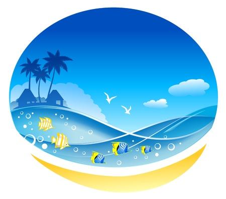 gaviota: Ondas tropicales del Mar