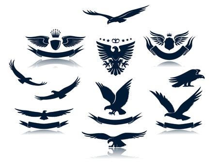 adler silhouette: Eagle-Silhouetten Set 3 Illustration