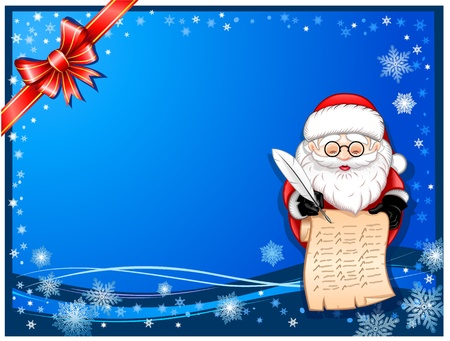 santaclaus: Santa-Claus writing on scroll card