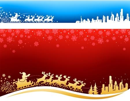approaching: Santa approaching Christmas Backgrounds