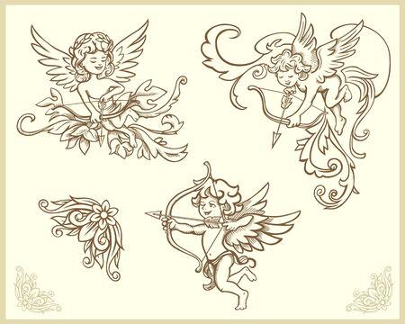 cherub: Cupids illustration set