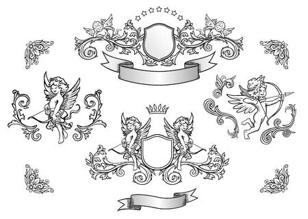 eros: Cupids illustration set