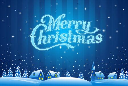 Frohe Weihnachten Schriftzug Illustration