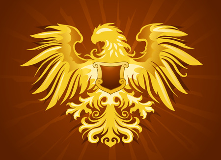 aigle royal: Golden Eagle Silhouette Illustration