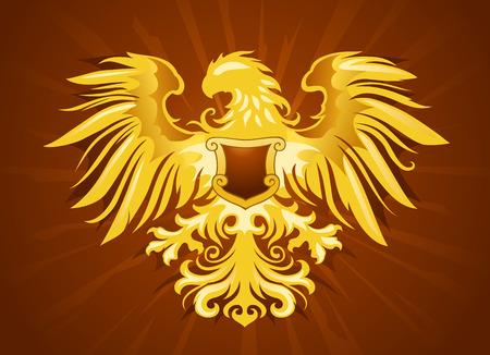 Golden Eagle Silhouette Illustration