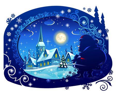tree house: Winter Christmas Night