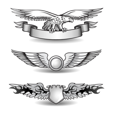 spread eagle: Winged Awards Set with Eagle