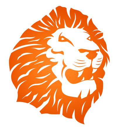 Fire Lion Head Tattoo Illustration