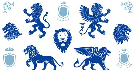 Lions Drawings, Lion Head, Heraldic Lions, Winged Lion