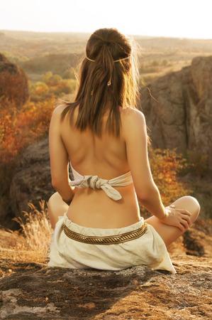 neanderthal women: Amazon woman Warriors Stock Photo