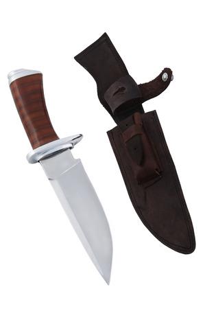 Sharp knife isolated on white background photo