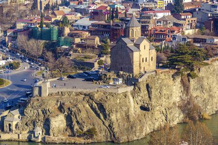 The Metekhi temple, which is picturesquely located on a rock above the Kura river, is definitely one of the business cards of Tbilisi. The Church in the name of the assumption of the blessed virgin Mary was built in the 12th century, has been destroy
