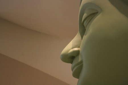 cabeza de buda: Estatua de una cabeza de Buda